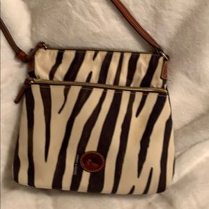 Dooney and Bourke Zebra Print Crossbody Purse